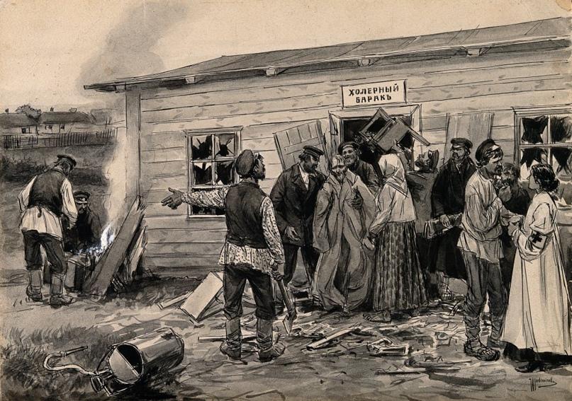Просмоленные гробы, отряды дезинфекторов и холерные диссиденты. Как боролись с эпидемиями в Вятке до революции., изображение №1