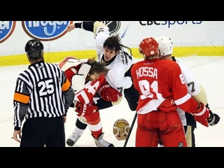 Malkin vs Zetterberg Fight (Game 2 Stanley Cup Finals 5-31-2009)