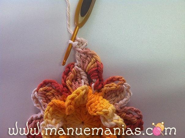 #вязание_для_дома@modnoe.vyazanie Цветок жасмина. Мастер-класс.