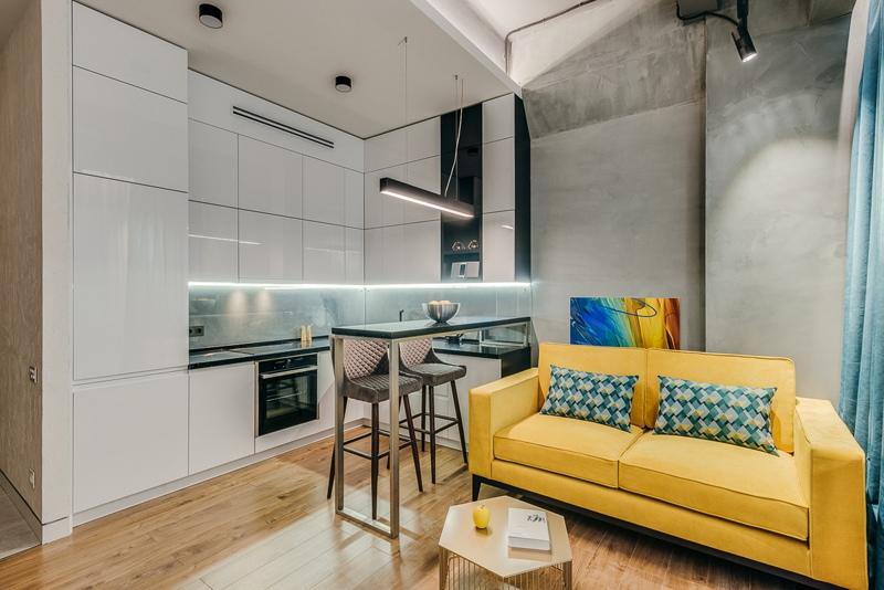 Достойная реализация вчерашнего компьютерного проекта апартаментов 43 м.