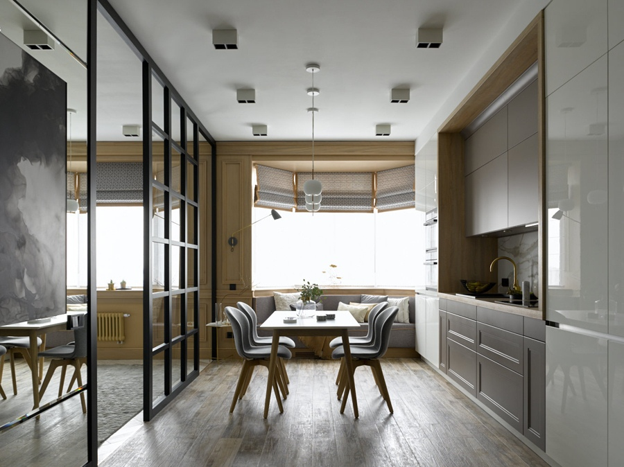 Интерьер квартиры-студии 54 м в Москве.