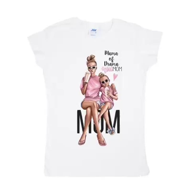 прямая печать на женских футболках