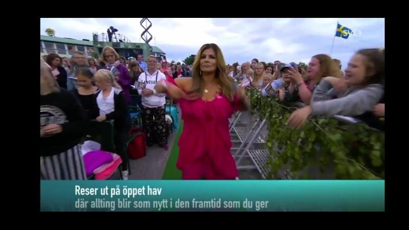 Sanna Nielsen Carola Och Publiken Fångad Av En Stormvind Allsång På Skansen 25 06 2019