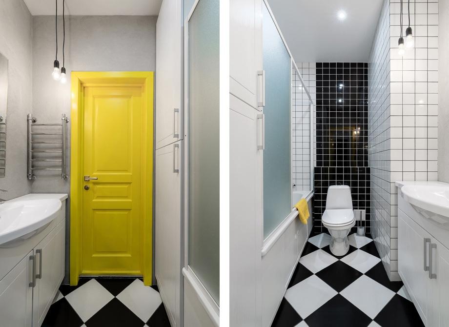 Интерьер квартиры-студии 32 м в скандинавском стиле.