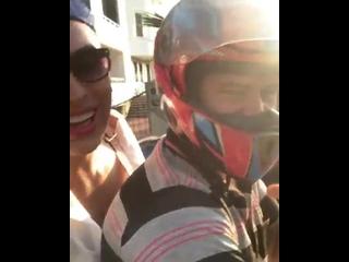 Влад Мирос и таксист-мотоциклист
