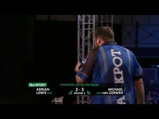 Adrian Lewis vs Michael van Gerwen (PDC Players Championship Finals 2019/ Round 2)