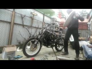Ремонт мотоцикла с бубном