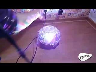 CВЕТОДИОДНЫЙ ДИСКО ШАР LED MAGIC BALL 9 ЦВЕТОВ С ПДУ + Bluetooth(0).mp4