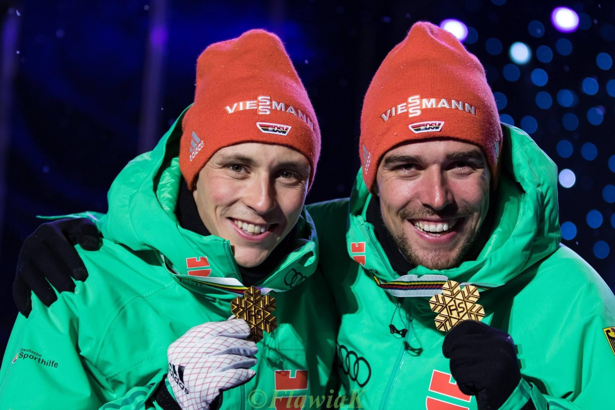 Эрик Френцель и Йоханнес Ридцек; Лахти-2017