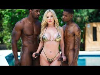 Savannah Bond - Interracial Anal Threesome (All Sex Porn Blowjob Big Tits Ass Cowgirl Doggy Blonde Gonzo Hardcore Milf Facial)
