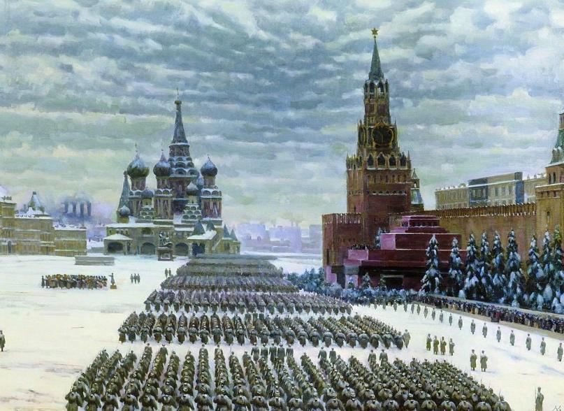 Парад на Красной Армии - символ единства многонационального народаСоветского Союза в годы Великой Отечественной войны