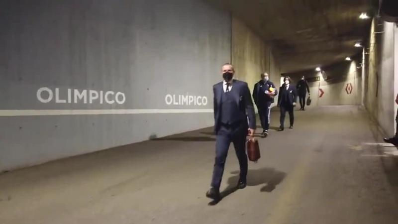 🚍 La Prima Squadra Della Capitale è arrivata allo Stadio Olimpico!