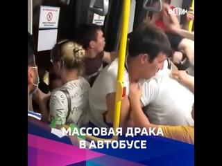 Жители Казани устроили массовую драку в автобусе