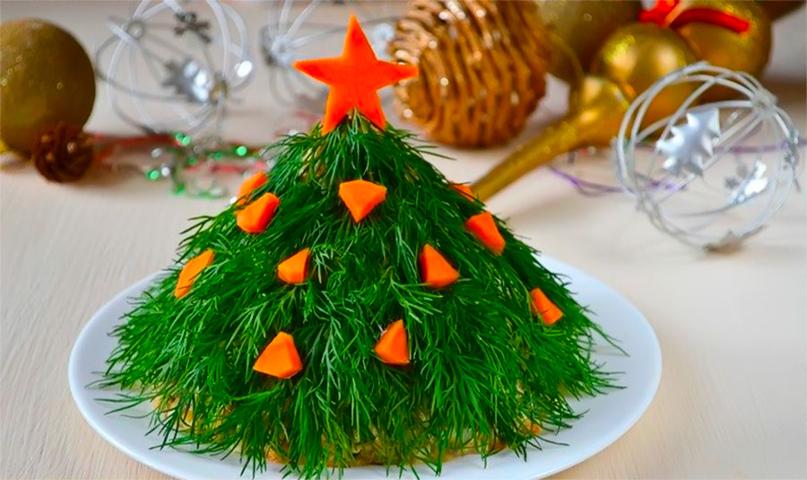 Салат новогодний «Ёлочка»