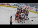 Массовая драка в конце матча Торонто - Эдмонтон