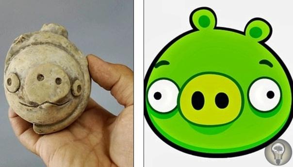 Angry Birds возрастом более 5000 лет. Ученые во время археологических раскопок в Китае обнаружили глиняную фигурку свиньи, которой более 5 тыс. лет - и эта находка буквально взорвала интернет -