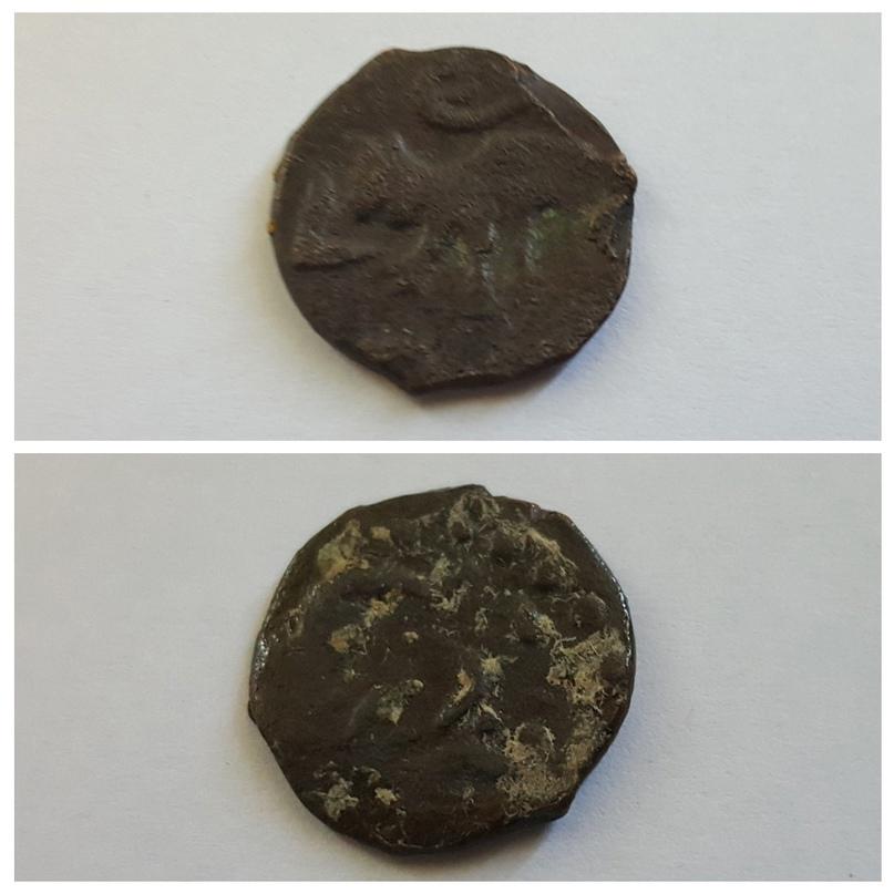 Монета с изображением зверька, направленного влево. Из фондов Пензенского краеведческого музея.