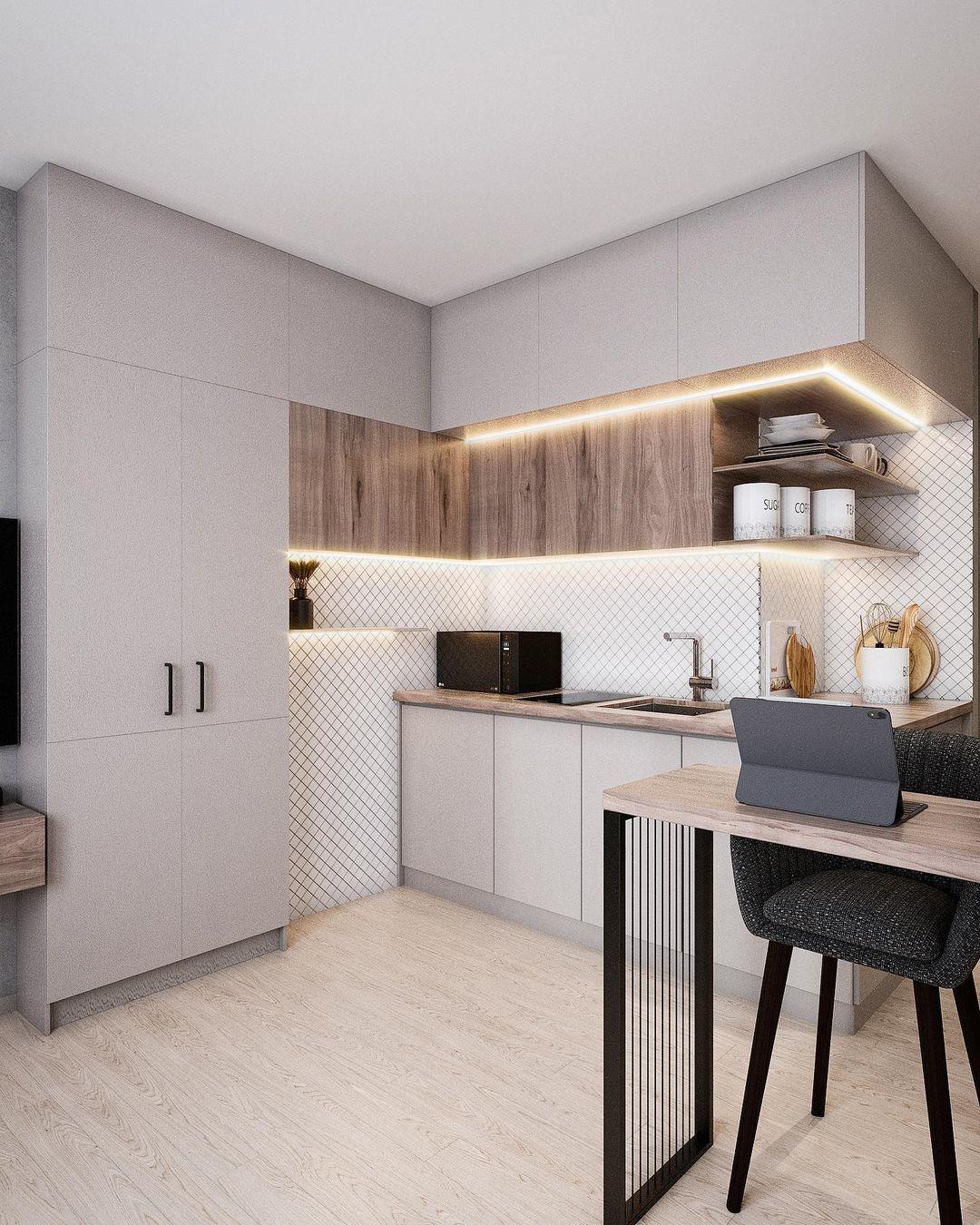 Проект маленькой квартиры-студии 18,5 кв.