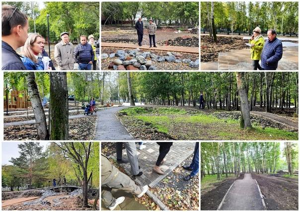 Комиссия по приёмке благоустройства парка Победы в рамках муниципального контракта вынесла свой вердикт