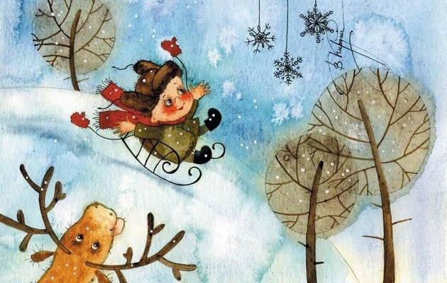 веселые стихи про зиму для детских праздников,
