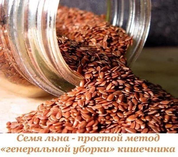 Семя льна - простой метод «генеральной уборки» кишечника.