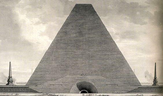 Загадка архитекторов Этьена Булле и Клода Леду идеи которому давали «сущности выходящие из тени», изображение №2