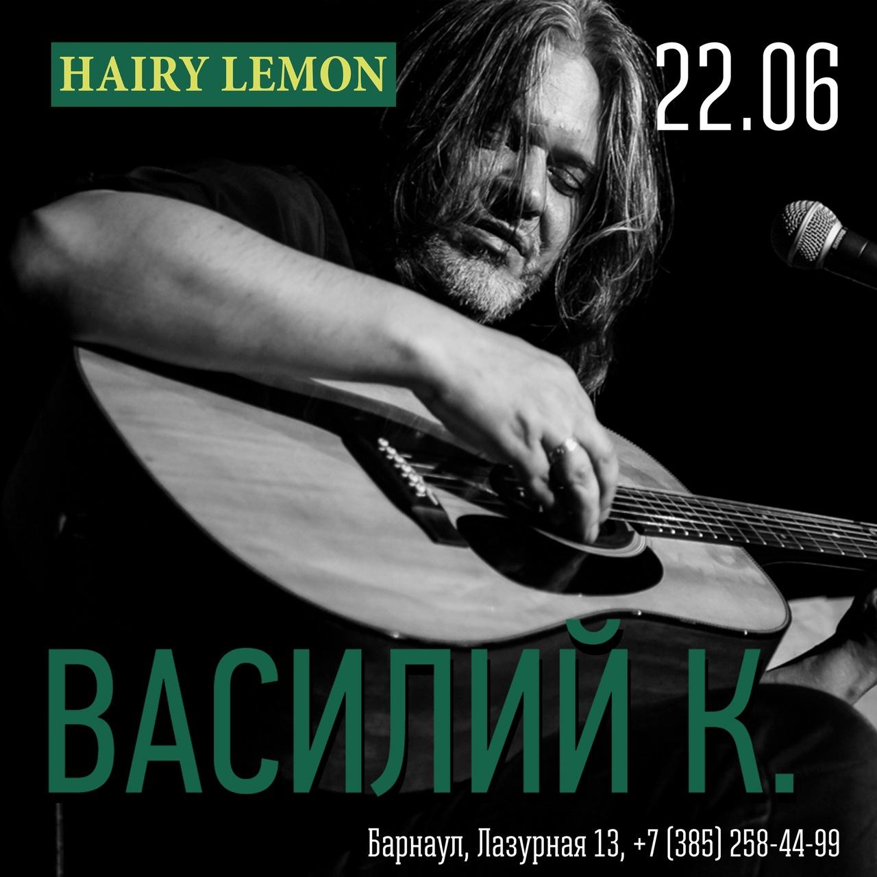 Афиша Барнаул Василий К. / 22.06 / Hairy Lemon, Барнаул