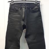 (0234) Мотоштаны кожаные женские, размер 38.