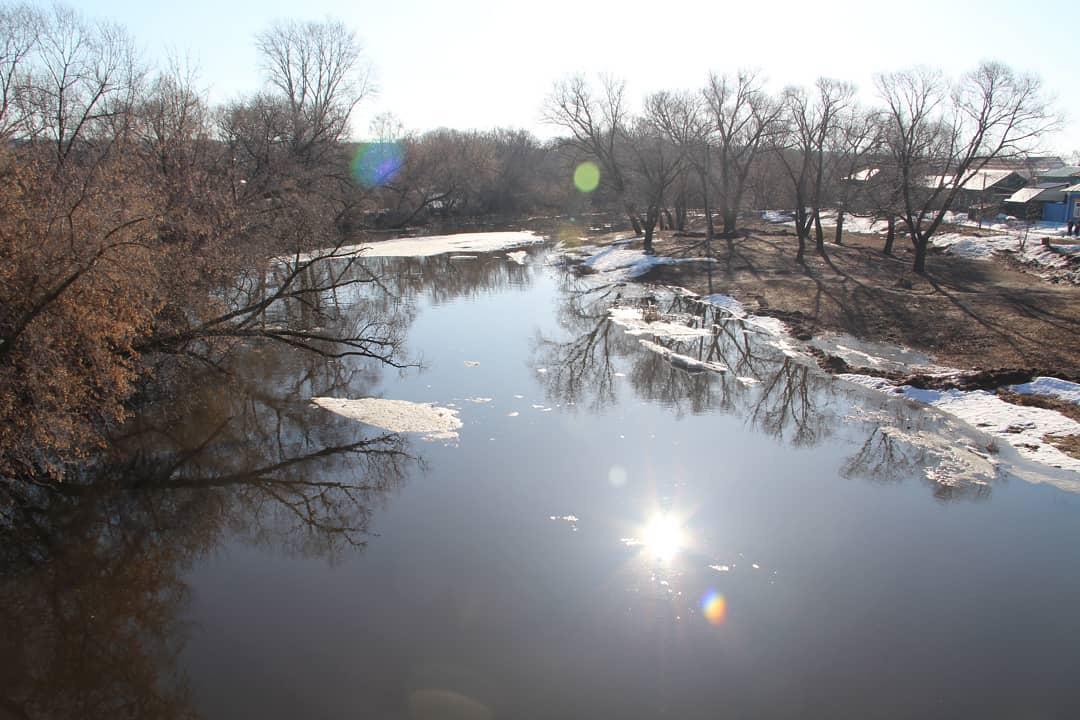 Ситуация с паводком на реке Медведице в районе Петровска 12 апреля