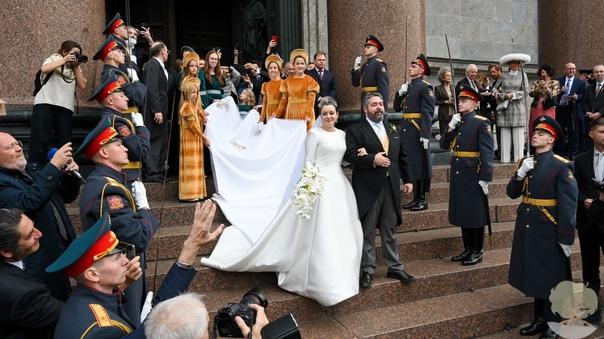 Великий князь Георгий Романов и Ребекка Беттарини обвенчались в Исаакиевском соборе в Санкт-Петербурге