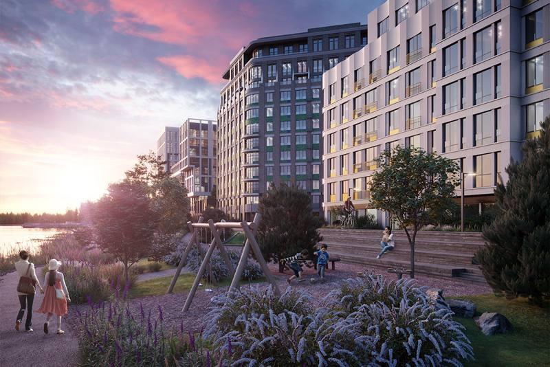 На новой набережной у «Технопарка» будет естественный берег, комьюнити-столы и амфитеатры-пирсы