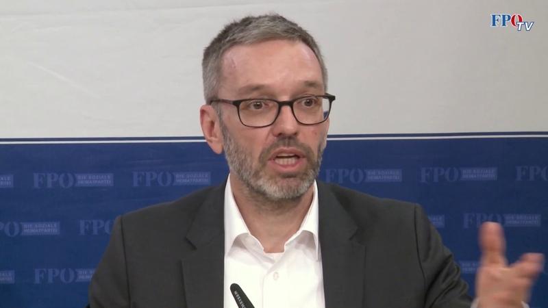 """Herbert Kickl """"Die schwarz grüne Regierung steht für Belastungen"""