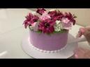 Торт-Букет ЛИЛИИИ РОЗЫ ГОРТЕНЗИИ! Как сделать ЛИЛИЮ РОЗУ ГОРТЕНЗИЮ из Белкового крема!Красивый торт!