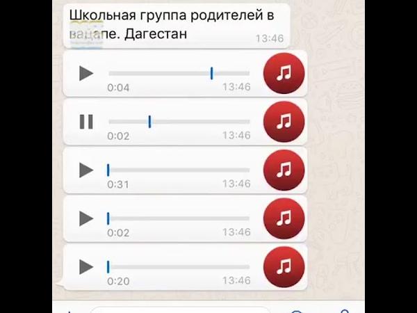 Чат Дагестанских родителей в watsapp