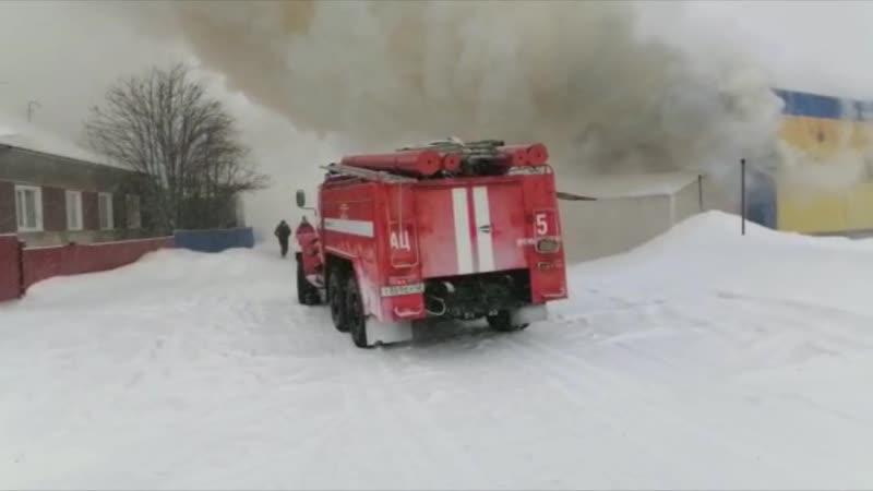 Пожар в пгт Промышленная