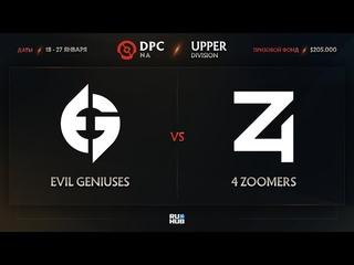 Evil Geniuses vs 4 Zoomers, Dota Pro Circuit 2021: Season 1 - NA, bo3, game 3 [Eiritel & Jam]