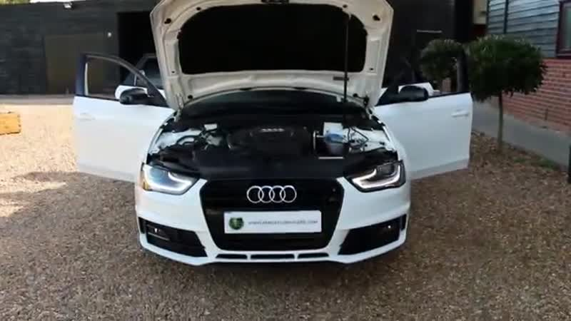 Audi A4 Avant 2 0 TDi 177 S Line Black Edition Plus Automatic in Ibis White