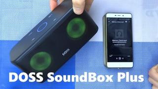 DOSS SoundBox Plus Bluetooth динамик 16Вт с подсветкой сенсорным управлением обзор бюджетной колонки