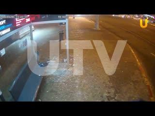 В Уфе вандалы снова разгромили «умную» остановку на улице Спортивная
