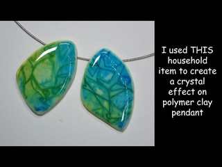 I used THIS household item to create crystal effect on polymer clay!