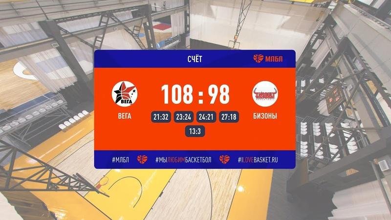 Хайлайты Вега Бизоны Элита Вынесенный матч Сезон 2020 21