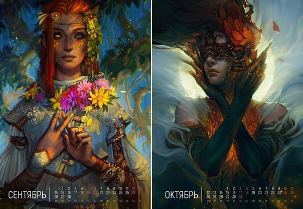 «Ожившие месяцы». Арт календарь на 2020 год, by Exellero