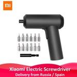 2019 Оригинал Xiaomi Mijia электрическая отвертка с 12 шт. S2 винтами 3,6 V 2000mah