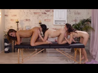 Lesbian, Massage, Threesome, Petite, Pussy Licking, Fingering, Masturbation, Facesitting, 69, 1080p