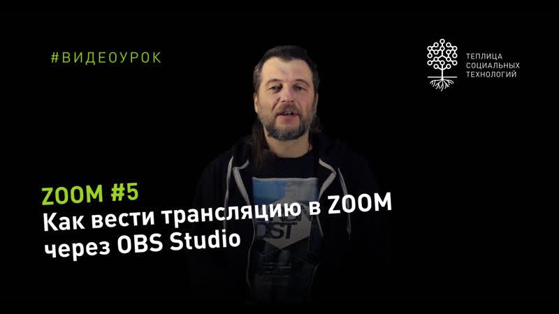 ZOOM 5 как вести трансляцию в ZOOM через OBS Studio
