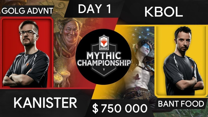 Kanister vs Kbol $750 000 DAY 1 Mythic Championship V 5 MTG Arena 2019
