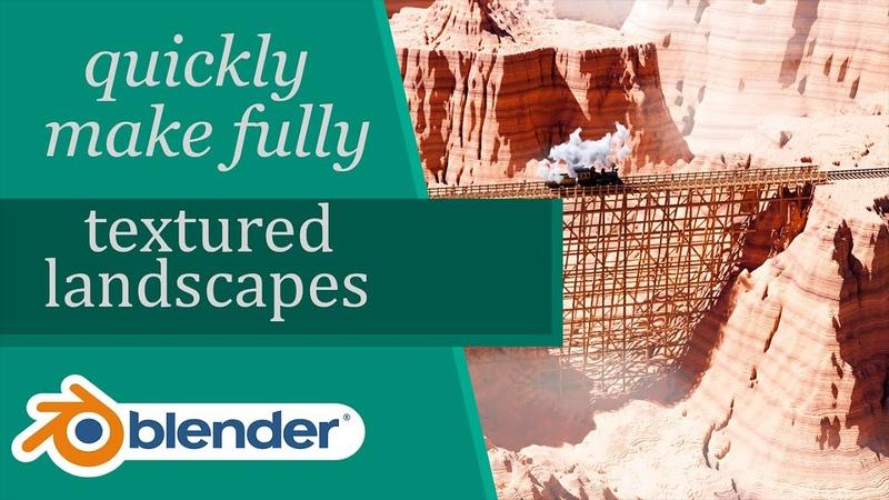 Easily Make Fully Textured Landscapes In Blender