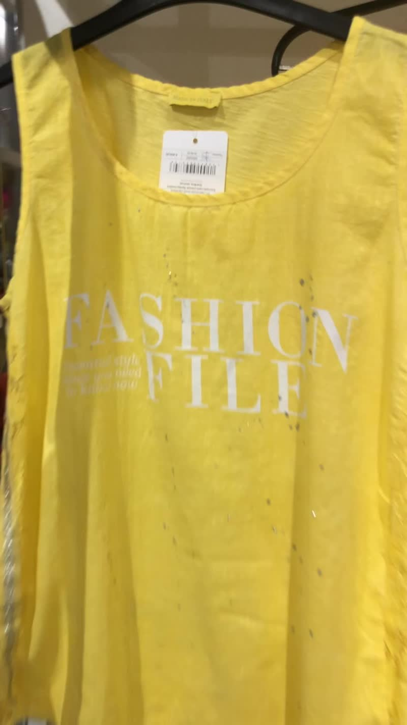 Костюм желтый с майкой и футболкой