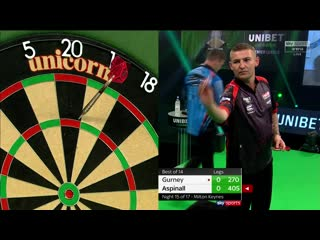 Daryl Gurney vs Nathan Aspinall (PDC Premier League Darts 2020 / Week 15)