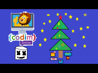 Программирование для детей - запись онлайн-урока - Как сделать Новогоднюю открытку на #ScratchJr